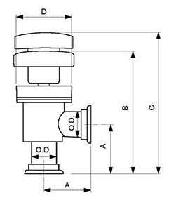 Manually Operated Angle Valves withs Bellows -90°